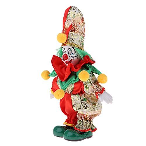 stige Clown Porzellan Puppe In Bunten Kostüm Handwerk 2 ()