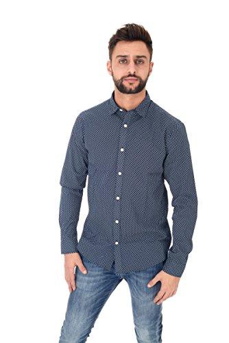 ONLY & SONS Herren Freizeithemd Onsclaes Ls Shirt Blue