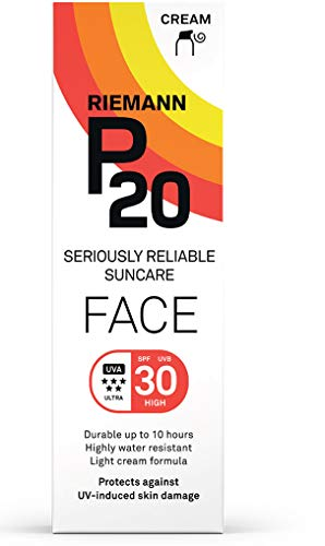 Riemann P20 Face Sun cream SPF30 50 g Long Lasting UVA and UVB Protection for up to 10 hours, Highly Water Resistant