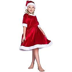 EraSpooky Niña Mamá Papá Noel Holly Papá Noel Navidad Disfraz