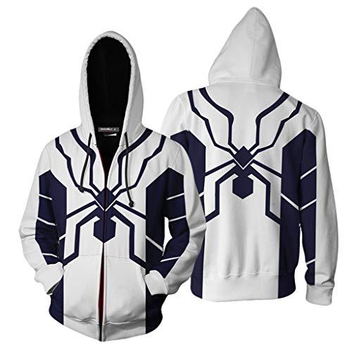 K-Flame Wunder Spider-Man 3D Anime gedruckt Hoodies Unisex mit Kordelzug Mäppchen Pullover Sweatshirts Jugend Paare (Beste Original Paare Kostüme)