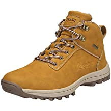 Bestow Zapatos de algodón abrigados para Hombre, además de Terciopelo cálido, de montañismo al