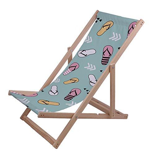 Ziloo - Hamaca de madera de calidad Premium, cómoda, regulable y plegable. Hamaca de playa y jardín de madera de eucalipto., Flip Flop