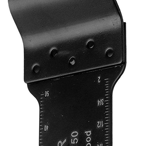 cnbtr 32x 50mm schwarz kohlenstoffreicher Stahl und M42HSS Quick Release oszillierendes Sägeblatt Multi Tools Set von 20