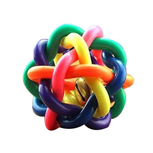 Homim Haustier Spielzeug Hunde Katze Gummi Bund Ball mit Glocken 10cm
