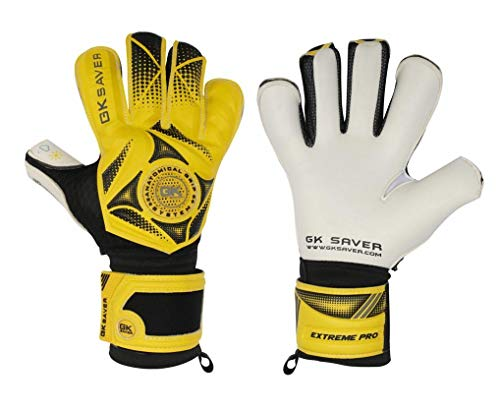 GK Saver Fußball Torwart Negative Cut 3D Winner 03 Hybrid Top Pro Handschuhe, YES FINGERSAVE NO Personalization, Größe 9 -
