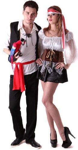 Disfraz de pareja de piratas - L