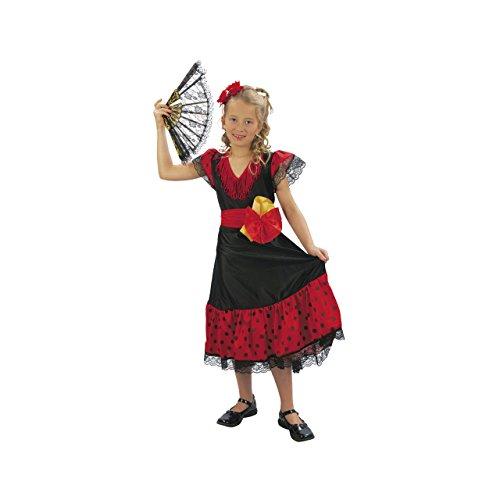Kostümplanet® Flamenco Kinder Kostüm Mädchen Kinderkostüm Tänzerin Fasching Karneval Größe (Flamenco Kostüm Kostüm Tänzerin)