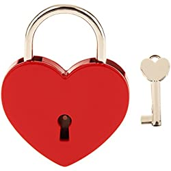 Candado Armario Bloqueo Cerradura Seguridad Equipaje Viaje Forma De Corazón L - Rojo