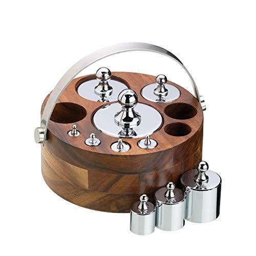 Kitchen Craft NEWGTMET10 - Pesos para balanza (10 piezas, sistema métrico, soporte con asas de metal) .
