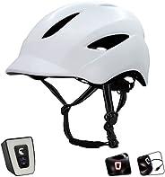Fietshelm Met USB-Lamp - Voor Mannen, Vrouwen, Jongens & Meisjes | Fietshelm Met Ingebouwd USB-Oplaadbaar
