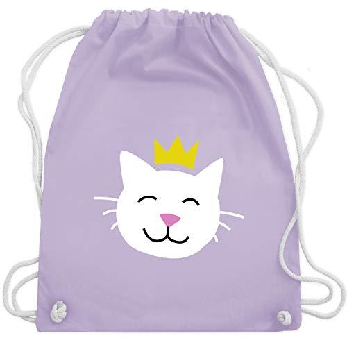 Königin Katzen Kostüm Der - Tiermotive Kind - Katze Prinzessin - Unisize - Pastell Lila - WM110 - Turnbeutel & Gym Bag