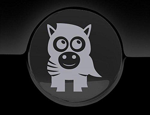 Silber Zebra Cover (JCM Liebenswürdig, Zebra Tankdeckel Cover Auto Aufkleber, Silber)