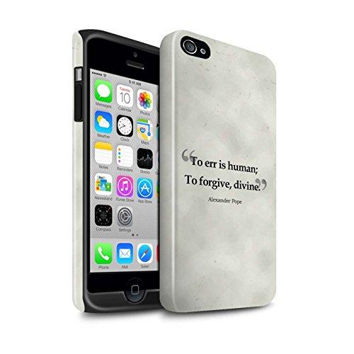 STUFF4 Glanz Harten Stoßfest Hülle / Case für Apple iPhone 4/4S / Albert Einstein Muster / Berühmte Zitate Kollektion Alexander Pope