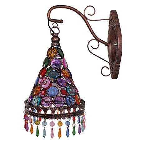 GDLight Luz a la Pared turca marroquí lámpara de Pared de la cabecera de América Rural...