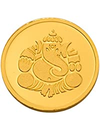 Kundan 22k (916) Lord Ganesh 4 gm Yellow Gold Coin