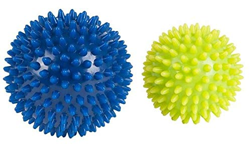 HUDORA Fitness Massage-Ball 2 Stück, lemon/blau, 76769