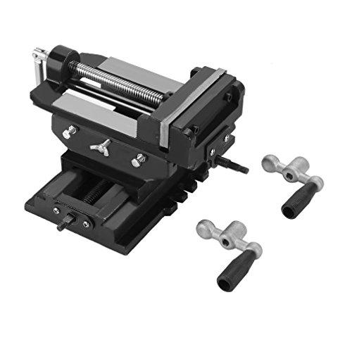 OUTAD Maschinenschraubstock 2-Achsen Schraubstock für Kreuztisch Frästisch Fräs Koordinaten Tisch Werkbank (125mm (5 zoll))