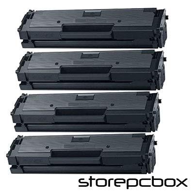 Storepcbox - KIT 4 Toner compatibili con Samsung D101 ML-2160, ml-2162, ML-2165W, ML-2165, SCX-3400, SCX-3400F, SCX-3405, SCX-3405F, SCX-3405FW, SF-760P, SF765P Nero SET 4 PEZZI