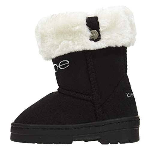 Bebe Toddler Girls Microsuede Winter Boots Faux Fur Cuffs Comfort Slip-On Shoes