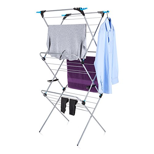 Minky 3 Tier Plus Indoor Airer, 21m drying space, Silver