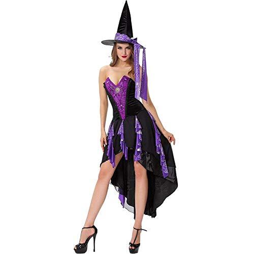 Yunfeng Hexenkostüm Damen Halloween Damen lila Schlucken Tail Hexenkostüm Cosplay Kostüm Ghost Festival Party Kostüme