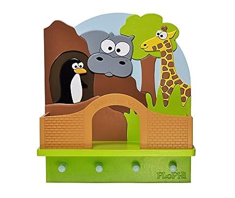 Flophi Kindergarderobe mit Mützenablage Motiv Zoo klein