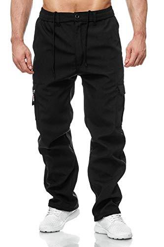 Herren Cargo Hose Arbeitshose Gefüttert Workwear H2000, Farben:Schwarz, Größe Hosen:XXL