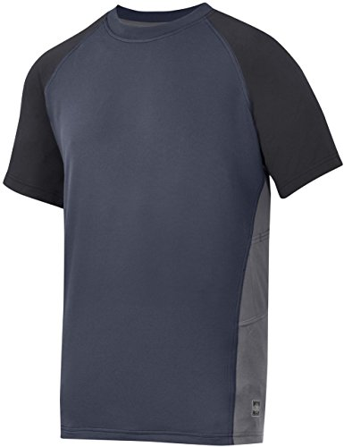 Snickers AVS 2509 Advanced T-Shirt Herren Rundhals s-sleeve Erwachsene Workwear Top Mehrfarbig - Navy/ Black