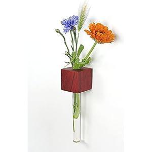 Fenstervase Padouk Blumenvase test tube vase