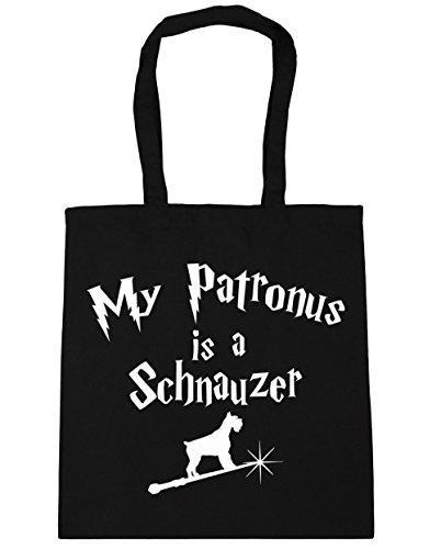 hippowarehouse-my-patronus-is-a-schnauzer-tote-shopping-gym-beach-bag-42cm-x38cm-10-litres