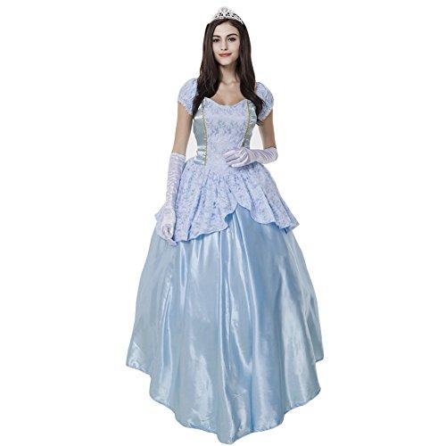 Hallowmax Damen Royal Sissi Kleider Kostüm Abendleider Quincenera Ballkleider Lang Promkleider Cinderella