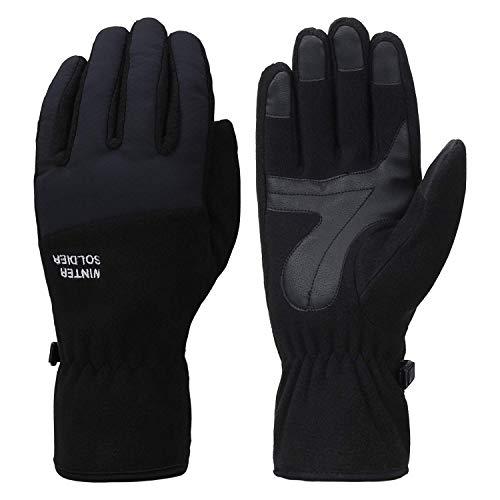 Fantastic Zone Herren winter-handschuhe cold weather winddichtes warm thermal touchscreen handschuhe klein schwarz
