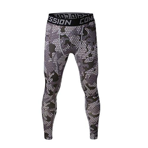 Uniquebella Pantalon de Compression Homme Legging de Sport Pantalon Collant pour Fitness /Course Gris M