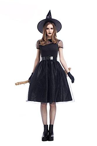 Wicked Kostüm Größentabelle - DoLoveY Halloween-Kostüm für Damen, Übergröße, Schwarz - - Large