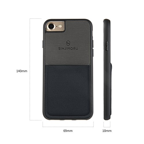 iPhone 6 / 6s Wallet Case, Sinjimoru iPhone 6 Hülle mit Kartenfach / iPhone 6 Schutzhülle mit Smart Wallet Kartenhalter. Sinji Pouch Case für iPhone 6 / 6s, Schwarz. Navy für iPhone 6
