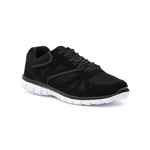 tick-mens-black-mesh-lace-up-lightweight-trainer-size-7-black
