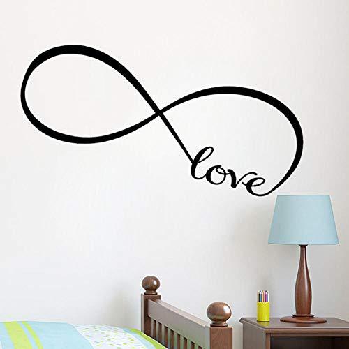 Liebe Schlafzimmer Dekor Infinity Symbol Wort Liebe Schlafzimmer Vinyl Wall Art DecalsWandaufkleber Wand-Aufkleber Wandtattoo Aufkleber (Um Infinity-wandtattoos Den Sie Lieben,)
