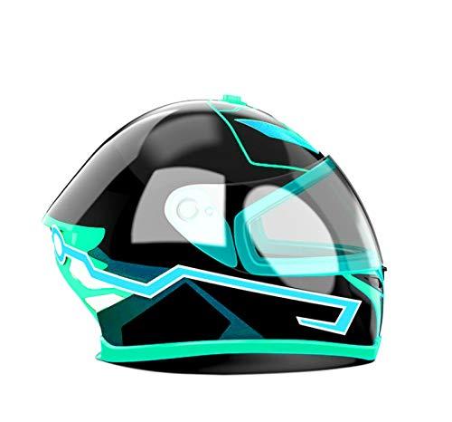 EL Kalt Licht Helm Licht Streifen Nacht Signal Leucht Modifizierte Streifen Helm Aufkleber EIS Blau ()