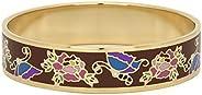 Women's Floral Print Enamel Bangle Bracelet – Multi-Color