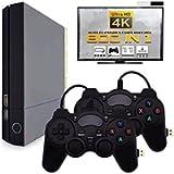 QUMOX Mini TV 4K HD Console per Videogiochi Built-in 800 Giochi Classici HDMI Dual Gamepad
