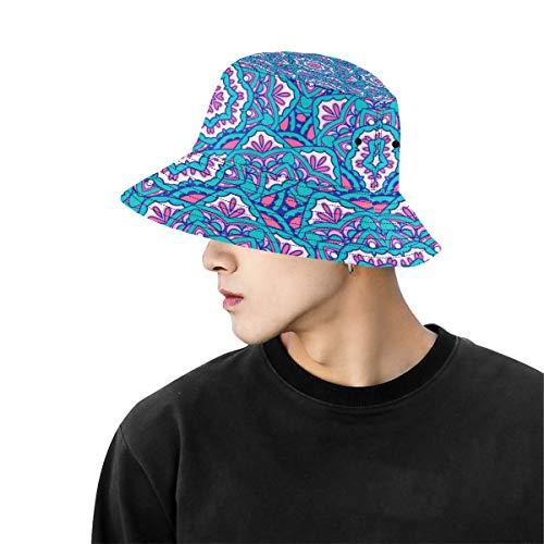 Masculino Sombrero Playa Mandala Antiguo Trible Geométrico Verano Unisex Pesca Sombrero Superior Sombreros para Adolescentes Mujeres Gorro Pescador Deporte al Aire Libre Traje Sombrero Pescado