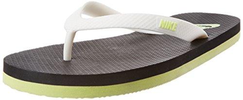 Nike Men's Women's Aquaswift Thong Black,Volt,White  Flip Flops Thong Sandals -5.5 UK/India (38.5 EU)(6 US)  available at amazon for Rs.549