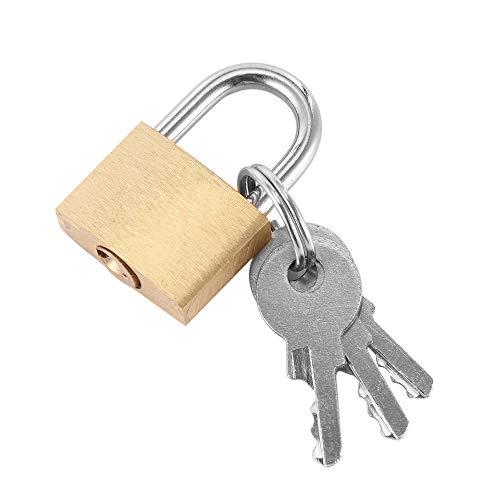 Notebook-sicherheit-schrank (BAWANG Kabinett Gepäck Sicherheit Metall Schloss Vorhängeschloss Gold Silber Ton Mit 3 Schlüssel Vorhängeschloss Box Fall Schloss Mini Schlösser Liebhaber Safe Lock)