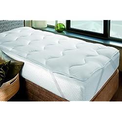 Savel – Sur-matelas/Topper 4 Saisons, 300g/m2 - Grand Confort - 140x190cm | Protège-matelas | Alèse – disponible en plusieurs dimensions