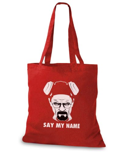 StyloBags Jutebeutel / Tasche Say My Name Rot