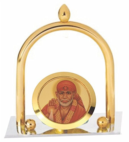 Deals Outlet Brass & Stainless Steel Sai Baba Ji Showpiece For Table For Diwali Gift, Small Temple, Spiritual Décor, Festive Décor, Divine Lord Sai Baba Idol, Bhagwanji Gifts, Spiritual Gifts, Gift Set, Cheap Gifts, Tabletop, Car, Corporate Gift (391)