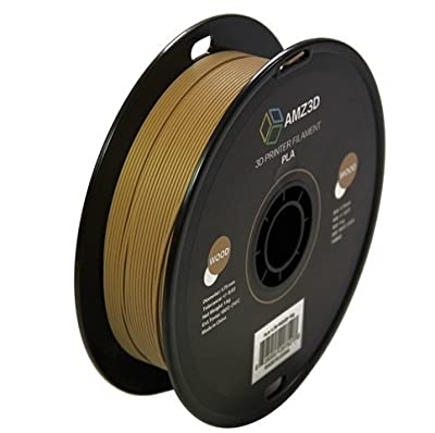 1.75mm Wood PLA 3D Printer Filament - 1kg Spool (2.2 lbs) - Dimensional Accuracy +/- 0.03mm
