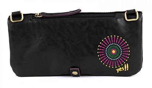 DESIGUAL - Damen Handtasche - Umhängetasche MELBOURNE AUDREY Marron (Schwarz)
