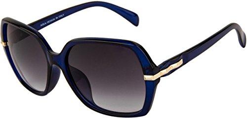 Aislin Premium Purple-Black Over-Sized Sunglasses (Women) (Medium - 57 mm) (Isabela Collection) (AS-8036-8-LPRBK254)